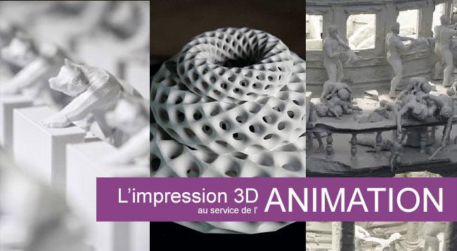 L'art en mouvement et l'animation avec une imprimante 3D