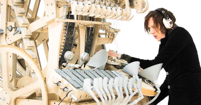 Martin Molin, les Wintergatan et la Musical Marble Machine