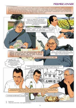 """Page de la BD """"Ballade entre amis autour vin"""""""