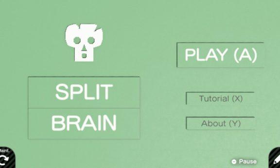 Ecran d'accueil du jeu Split Brain
