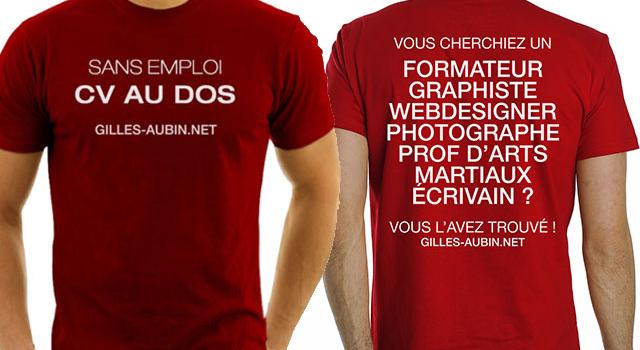 le t-shirt cv   pour provoquer des opportunit u00e9s