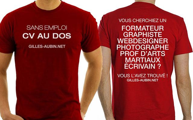 Le t-shirt CV : pour provoquer des opportunités