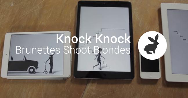 Les Brunettes Shoot Blondes pose un lapin à vos écrans !